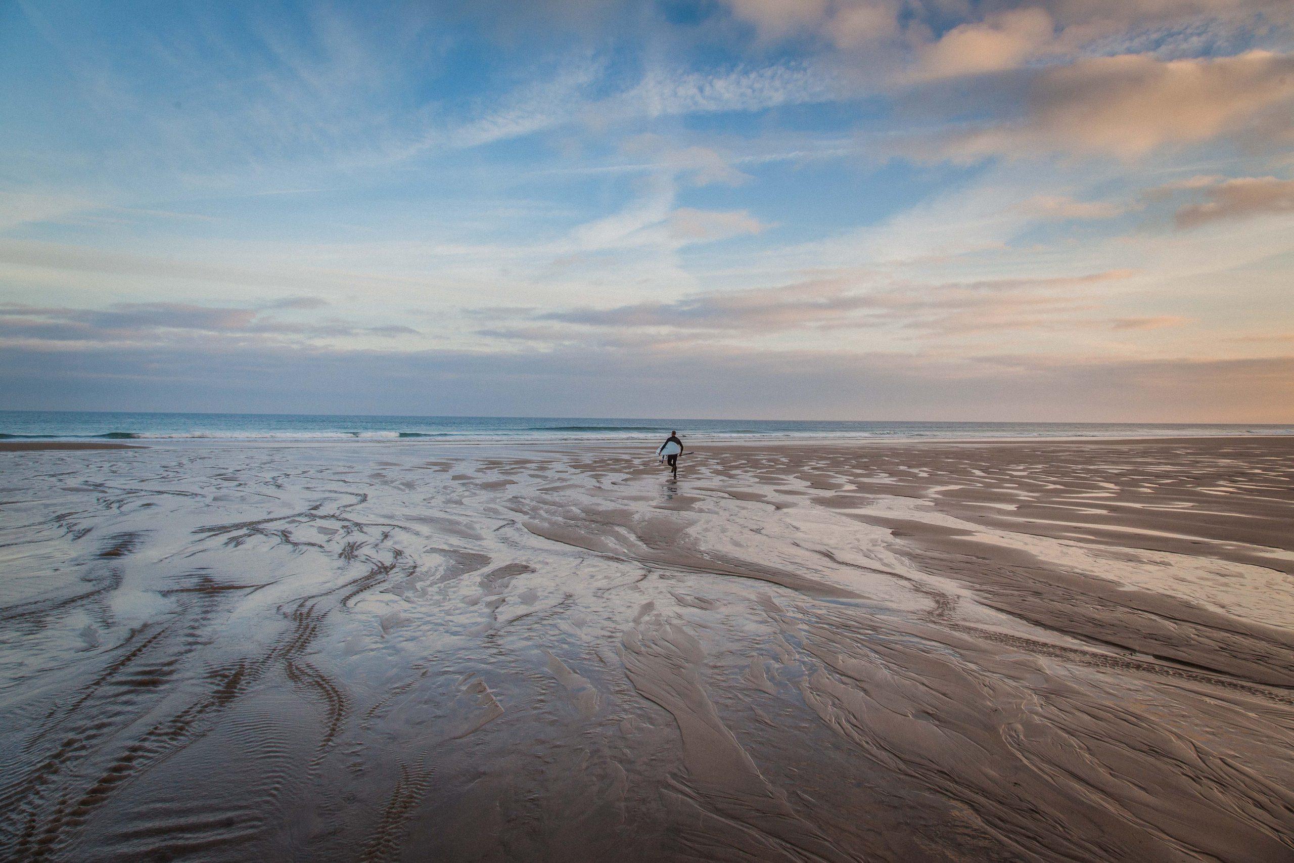 The lone surfer at Porthtowan, Cornwall